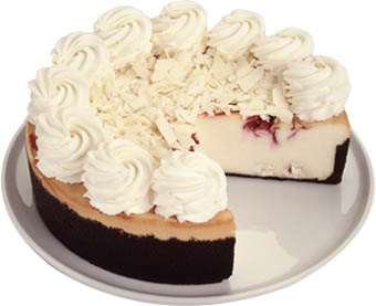 White Chocolate Raspberry Truffle Cheesecake