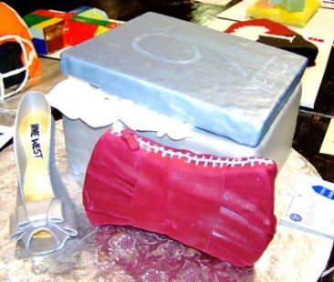 Nine-West shoe, purse, gift box