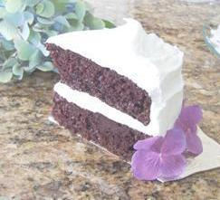 Nancie's Chocolate Cake with Divinity Icing