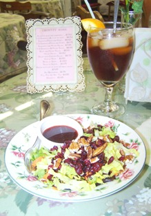 Cranberry Pecan Salad and Orange Tea