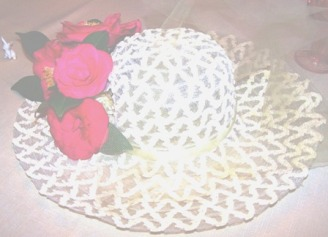 garden hat centerpiece