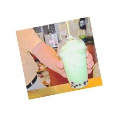 Honeydew Boba Tea