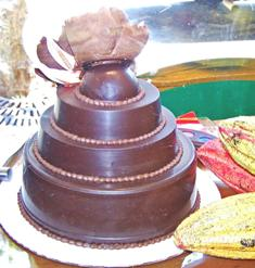Trinket filled chocolate 'cake'