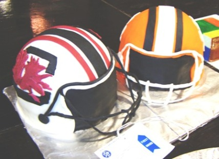 USC-Clemson Football helmet cakes