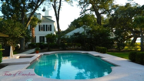 Pool area, Lowndes Grove Plantation